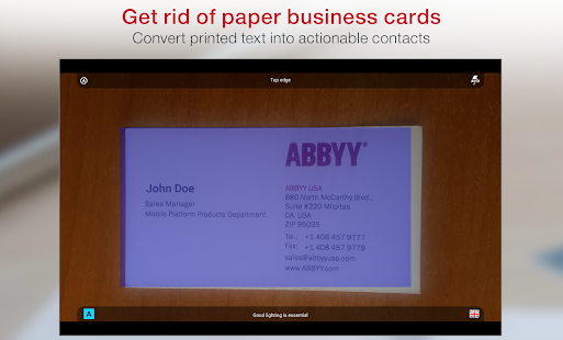 Business Card Reader Pro- screenshot thumbnail