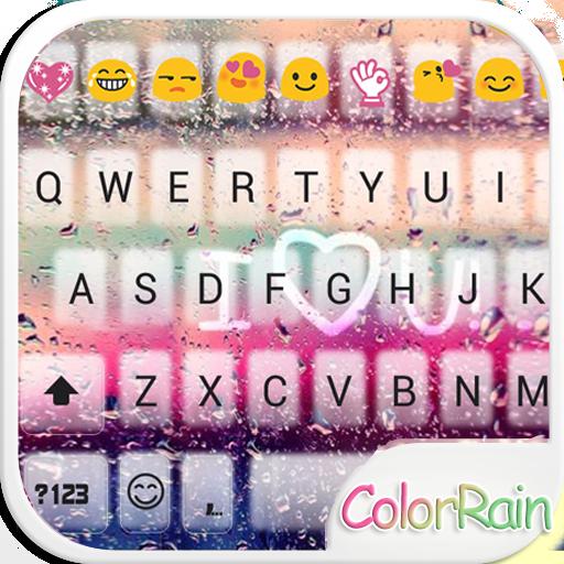 Color de Lluvia Teclado Emoji