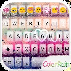android COLOR RAIN Emoji Keyboard Skin download