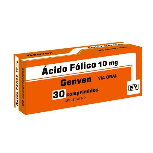 Ácido Fólico 10Mg 30 Comprimidos Genven