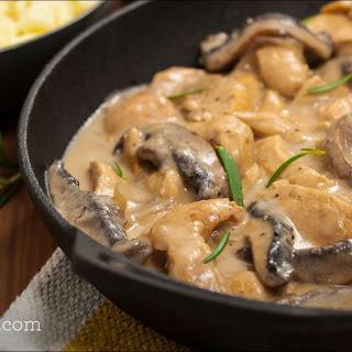 Chicken and Mushroom Stroganoff.