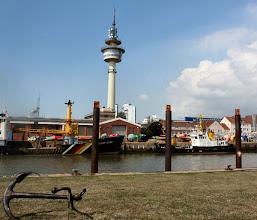 """Photo: an der Fähre in Bremerhaven, """"R"""" war schon weg"""