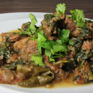 Lamb Saag – Lamb and Spinach Curry.
