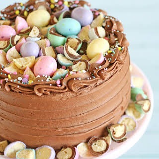 Chocolate Cake with Chocolate Malt Frosting.