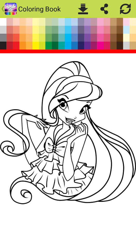 Coloring Game For Winx Screenshot