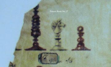 Photo: Bone Chessmen - No 17  Jaques 'Pattern Book'