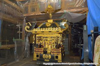 Photo: 神輿大改修 神輿搬出・工場搬入 平成27年7月27日(月)  無事、宮本 本社工場に搬入が完了