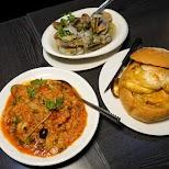 Portuguese rice and Chicken Bread Bowl at Porto in Macau in Macau, , Macau SAR