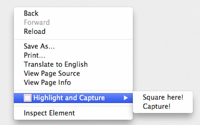 Highlight and Capture