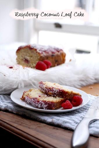 Raspberry Coconut Loaf Cake