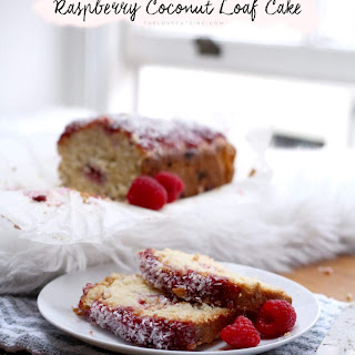 Raspberry Coconut Loaf Cake.