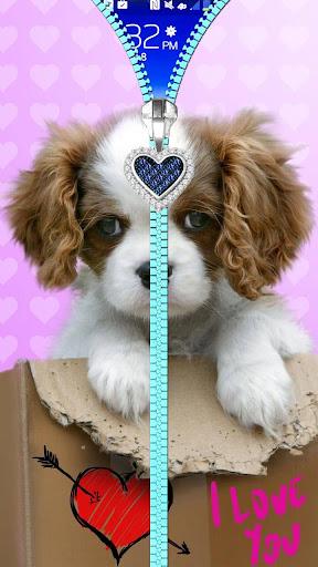 Puppy lock screen. Zipper. ss3