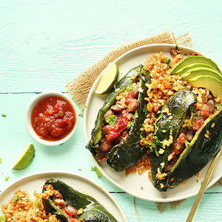 Vegan Stuffed Poblano Peppers.