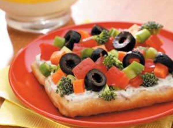 Chilled Vegetable Pizza Recipe