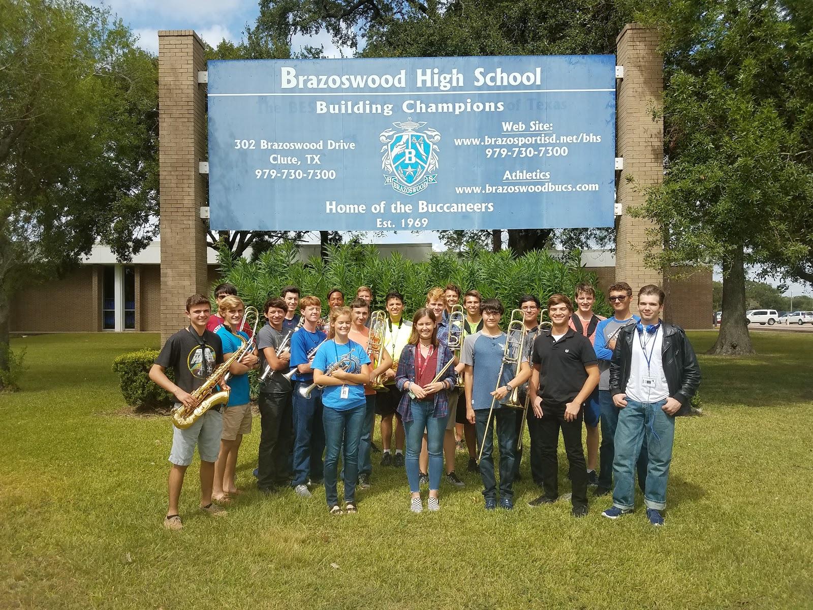 Brazoswood Jazz Band Group Photo