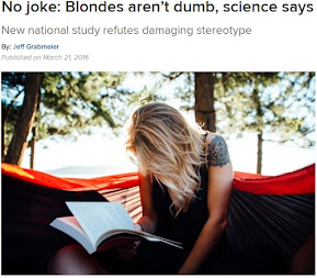 No joke: Blondes aren't dumb, science says | News Room - The Ohio State University