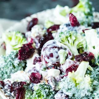 Dried Cranberry Broccoli Salad.