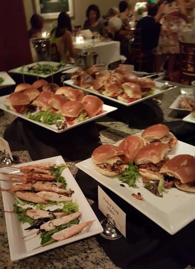 The Menu Included Everything From Meatball Sliders To Chicken Satay Brushchetta Veggies And Dip
