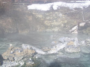 Photo: Liard Hot Springs, the hot end.