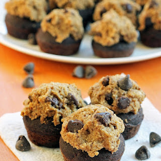 Chocolate Cupcakes with Cookie Dough Frosting.