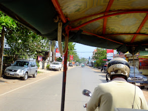 Photo: Siem Reap from our Tuk-Tuk