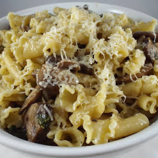 Mushroom and Spinach Campanelle.