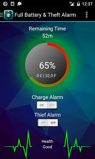 Full Battery Theft Alarm