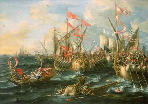 C:\Users\NF\Desktop\Castro_Battle_of_ActiumΗ Ναυμαχία του Ακτίου, πίνακας του Λορέντζο Κάστρο, 1672.jpg