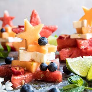 Blueberry, Melon, Feta, Fruit Salad Stacks Recipe