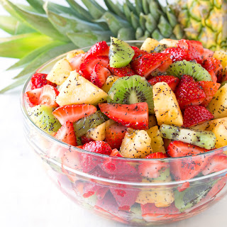 Triple Fruit Salad with Lemon-Poppy Seed Dressing