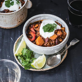 Shredded Beef Chili With Sweet Potatoes.