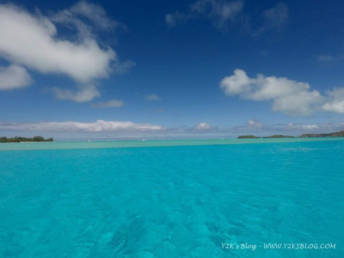 La parte a Sud dell'ancoraggio di SE - Bora Bora