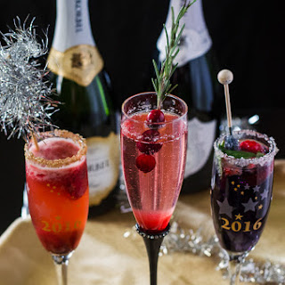 Berry Champagne Cocktail Trio