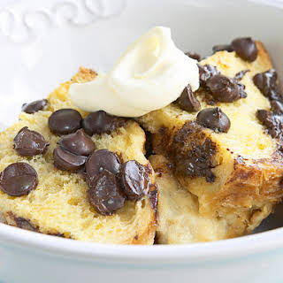 Chocolate Chip Bread Pudding.