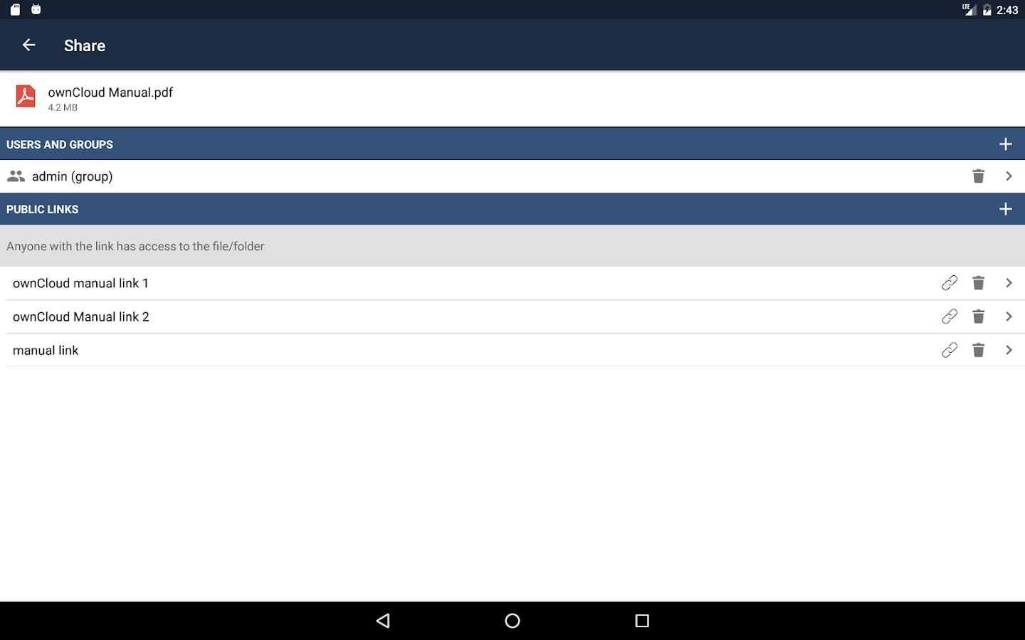 ownCloud- screenshot