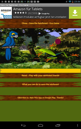 Save the Rainforest - Game