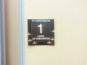 Photo: You've reached the level of discharge (At the former location of VCF/ECCC there was a prominent sign which made this statement)