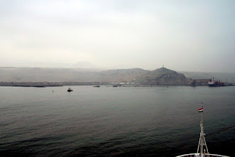 Photo: approaching the port