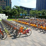 Ubike rentals all over Taipei, 20NT per hour, $0.60 USD which is a steal in Taipei, T'ai-pei county, Taiwan
