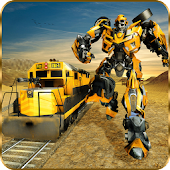 Futuristic Train Real Robot Transformation Game
