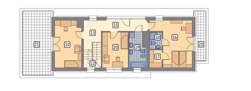 Błękit nieba - M67 - Rzut piętra