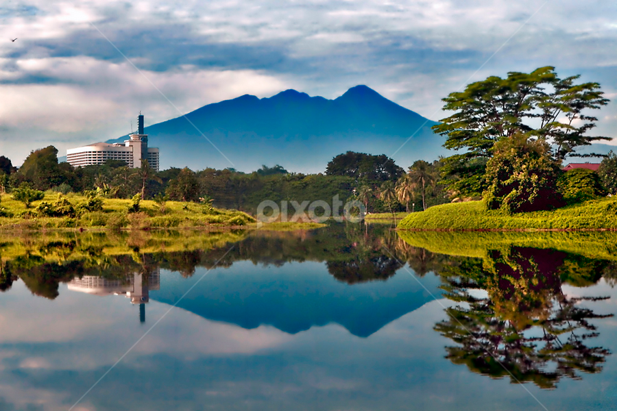 The Mirror by Anif Putramijaya - Landscapes Waterscapes