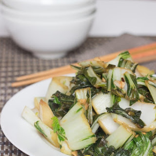 Stir Fried Bok Choy With Ginger and Garlic
