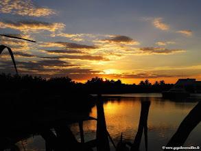 Photo: #022-Coucher de soleil sur la lagune du Club Med Cancún Yucatán.