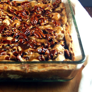 Slab Apple Pie with Salted Caramel Pecan Drizzle