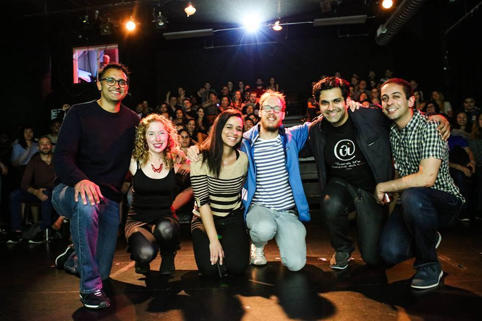 Michael Makarov, Richard Sarvate, Sarah Cooper, Julie Ash, Abhai Nadkarni at Comedy vs. Nerds @ Pianofight