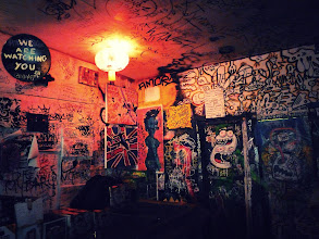 Photo: We are watching you. Mars Bar interior. East Village, New York City.View the writing that accompanies this post here at this link on Google Plus:https://plus.google.com/108527329601014444443/posts/cohrq6ipkNyView more New York City photography by Vivienne Gucwa here:http://nythroughthelens.com/
