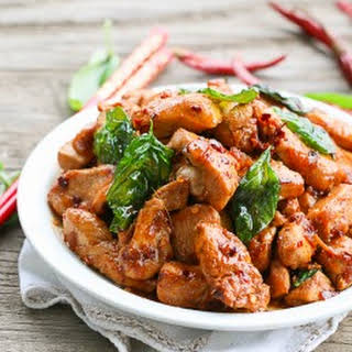 Thai Basil Chicken.