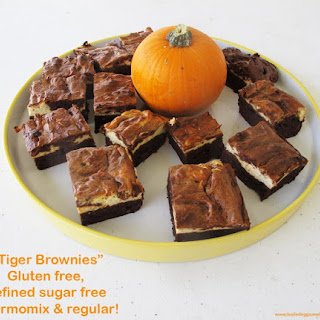 "Gluten Free & Refine Sugar Free ""Tiger"" Brownies - Thermomix"