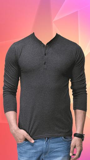 Man T-shirt Photo Suit screenshot 2